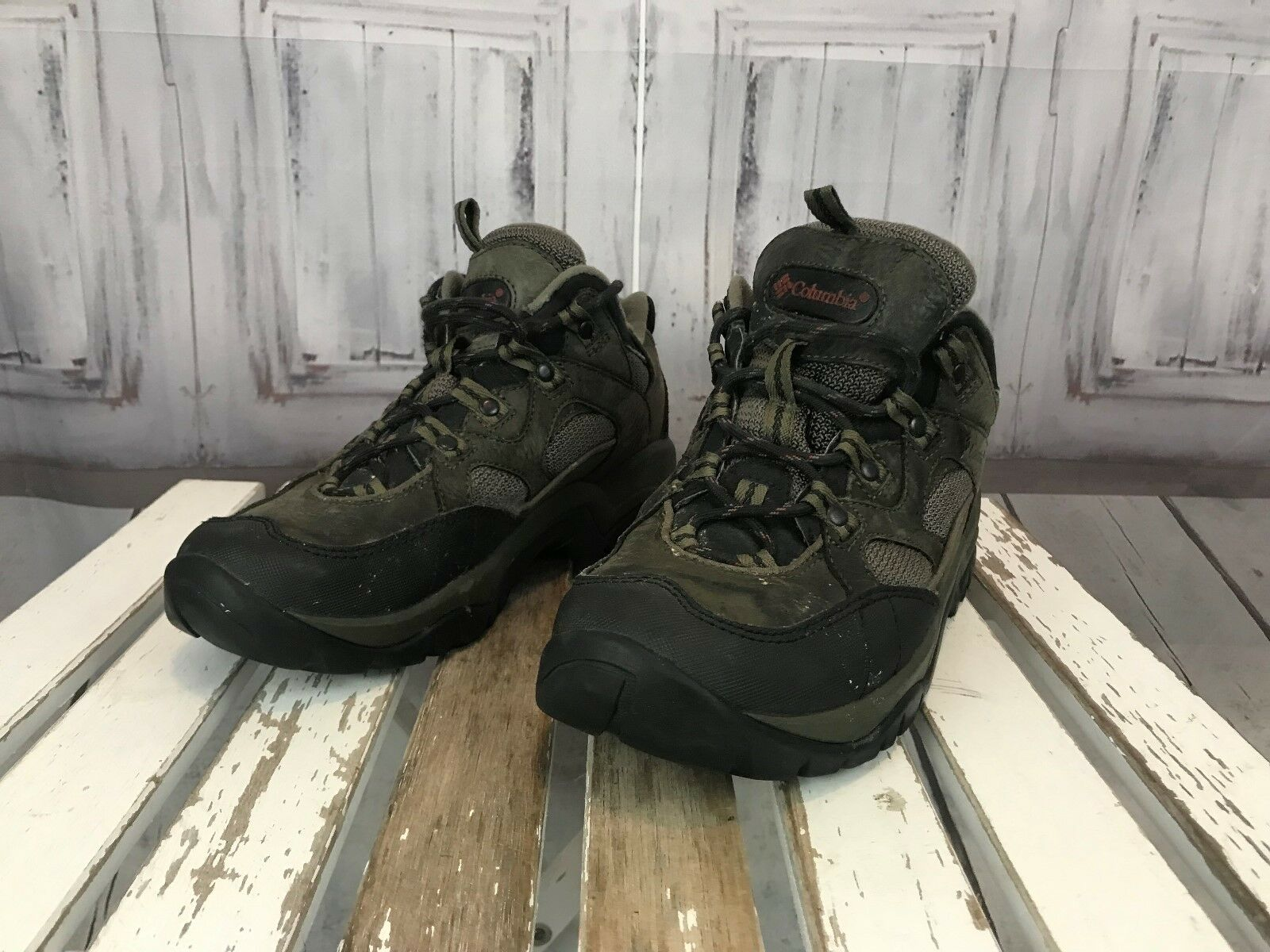 Columbia Mens Big Boys Trail Hiking Walking Winter Boots Brown Grey Size 8