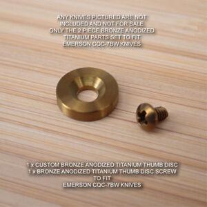 Emerson CQC-7BW CQC-7 Custom 2pc BRONZE Anodized Titanium