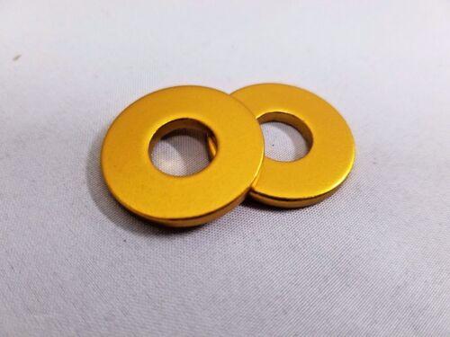 HUB AXLE WASHER SE RACING 10.2x25x2.3mm ALY GOLD 3//8 AXLES