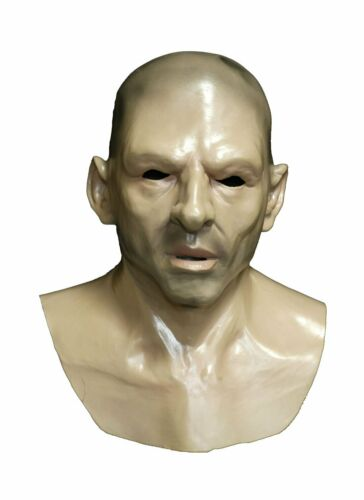 Realistic Human Face Mask Hard Man Bald Thug Adult Halloween Costume Disguise