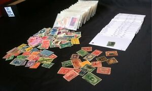 Collection-of-170-DIFFERENT-U-S-Stamps-AND-10-of-Old-U-S-Stamps-1800s-1900s