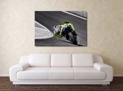 NEW Valentino Rossi 30x20 Canvas LARGE Moto GP Framed Picture Yamaha M1