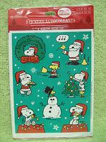 Snoopy Christmas Stickers Vintage Peanuts Hallmark Woodstock 4 Sheet Holiday