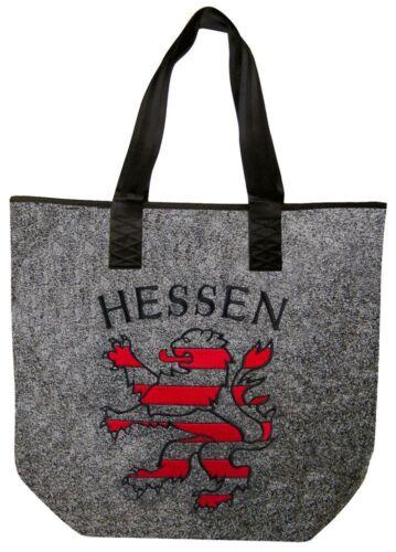 Filztasche Shopper Tasche edle hochwertige Stickerei • LÖWE HESSEN • 261XX