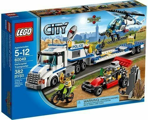 60049 HELICOPTER TRANSPORTER lego NEW town CITY exclusive legos set