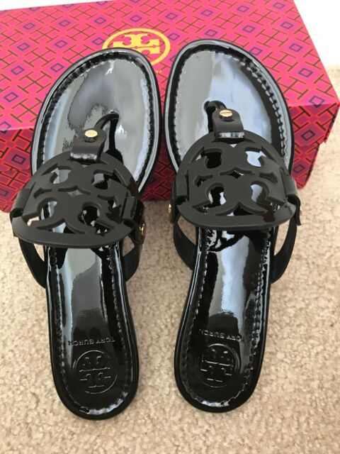 8c66a777aed78 NIB TORY BURCH Black Miller Patent Calf Sandals ** CHOOSE YOUR SIZE **