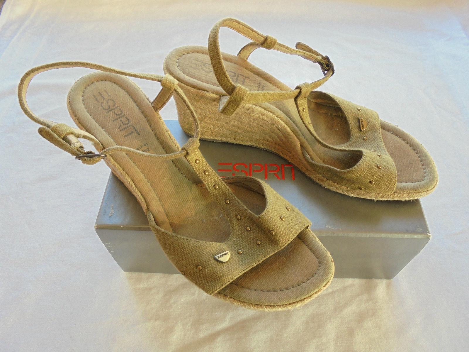 Esprit Wedges NP: 79,95€ Schuhe High Heels Sandaletten Pumps Gr. 40