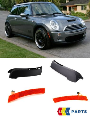 MINI NEW GENUINE R53 S USA TILL 2004//07 FRONT BUMPER OUTER PLASTIC TRIM SET PAIR