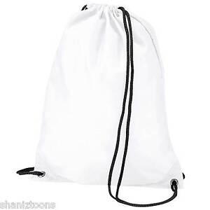 e92be367bf80 x10 White Drawstring Gym Sports School PE Bag Bulk Buy Job Lot ...