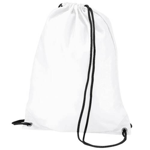 x10 White Drawstring Gym Sports School PE Bag Bulk Buy Job Lot