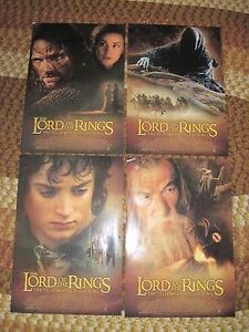 """4 LORD OF THE RINGS Movie Posters, 13""""x19"""", Please read details-Stored Long Time"""