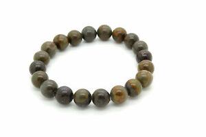 8mm-Natural-Brown-Jasper-Smooth-Round-Ball-Sphere-Gemstone-Beads-8-034-Bracelet