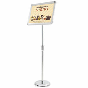 "12x16"" Pedestal Sign Holder Menu Stand Telescopic Station Poster Snap Frame A3"