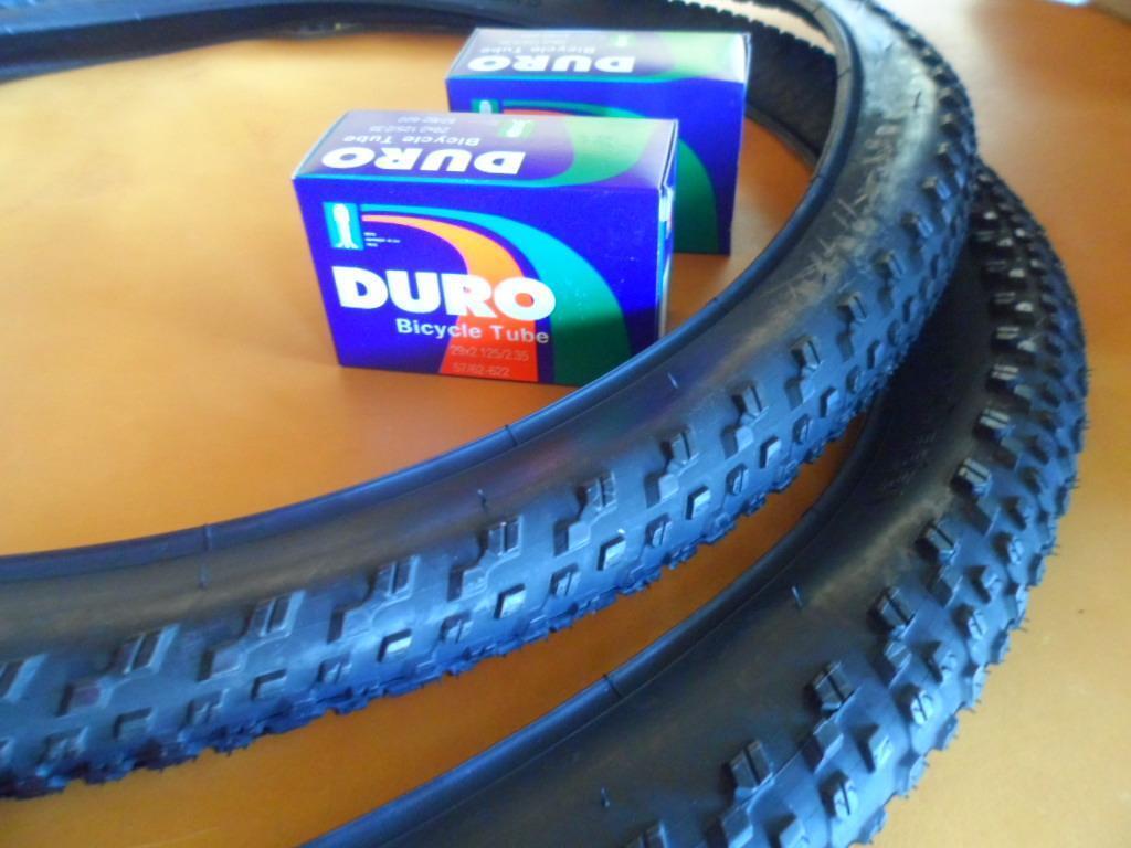 Two (2) 29er 29x2.10 Mountain Bicycle Tires &  Duro tubes Pair of 29  Tires Bike