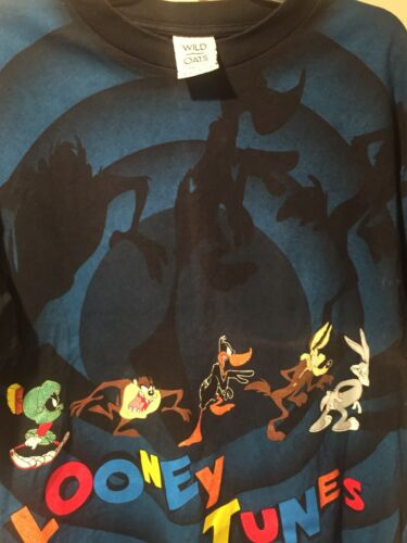 Vintage Looney Tunes All Over Print T Shirt Wild O