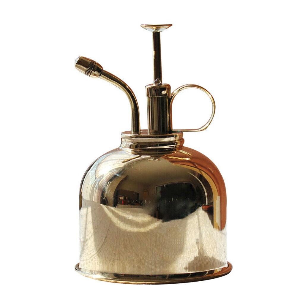 Vintage Chrome Solid Brass Plant Water Mister Spray Indoor Garden Bottle 300ml