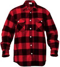 Flannel Shirts Extra Heavyweight Brawny Buffalo Plaid Flannel Shirt Men & Women