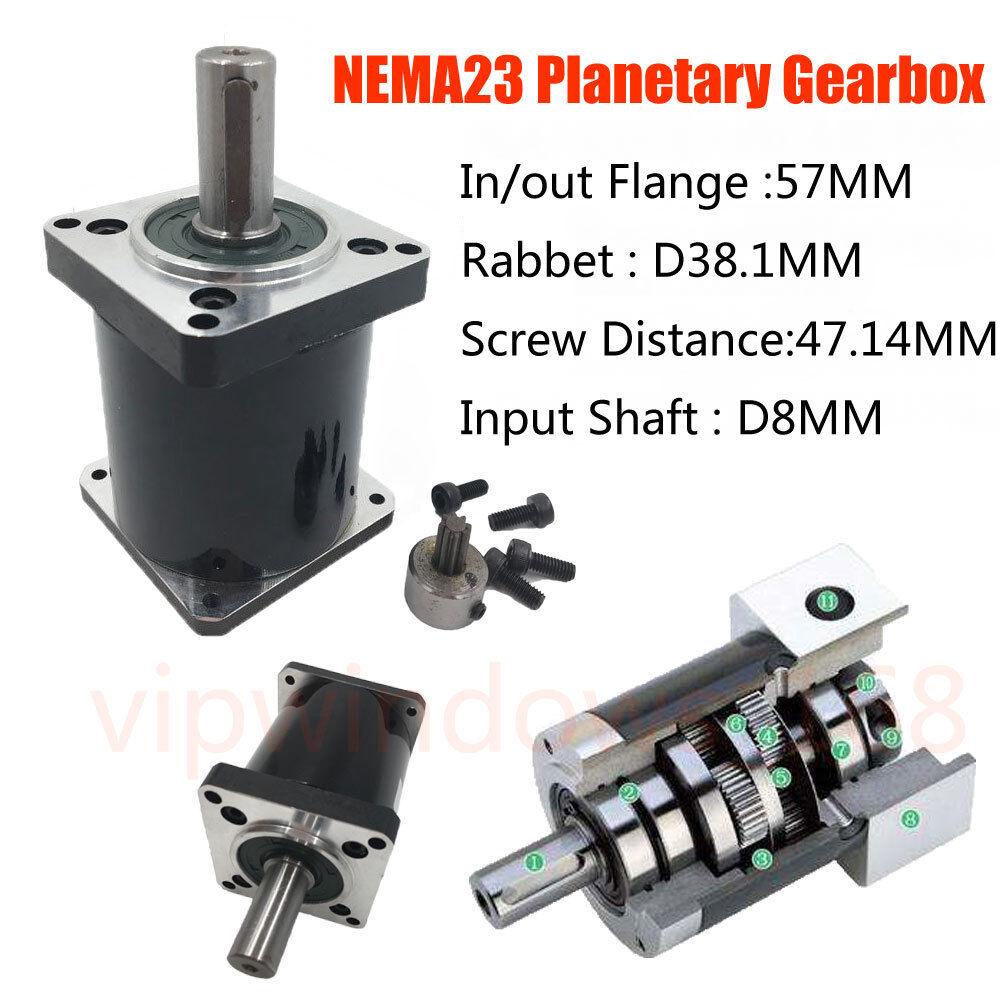 Nema17 Planetary Gearbox 1:5.18 Speed Reducer Gear Head for BYGP40 Stepper Motor