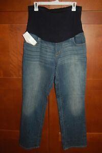 3f6a8f6ed059b MATERNITY Jeans Denim Blue Size 2 Women OVER THE BELLY BOOT CUT Liz ...