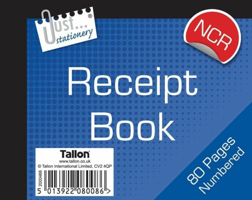 Duplicate 1-80 Pages Copy Cash Pad NCR 3 x Small Receipt Book CARBONLESS