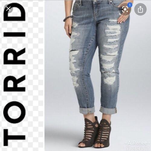 Torrid Ripped Destroyed Boyfriend Jeans 18