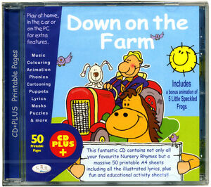 Down-on-the-Farm-CD-of-kids-favourite-nursery-songs-50-printable-pages-NEW