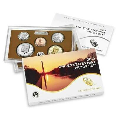 2019 S US Mint CLAD Proof 10 Coin Set with box and COA no extra W penny