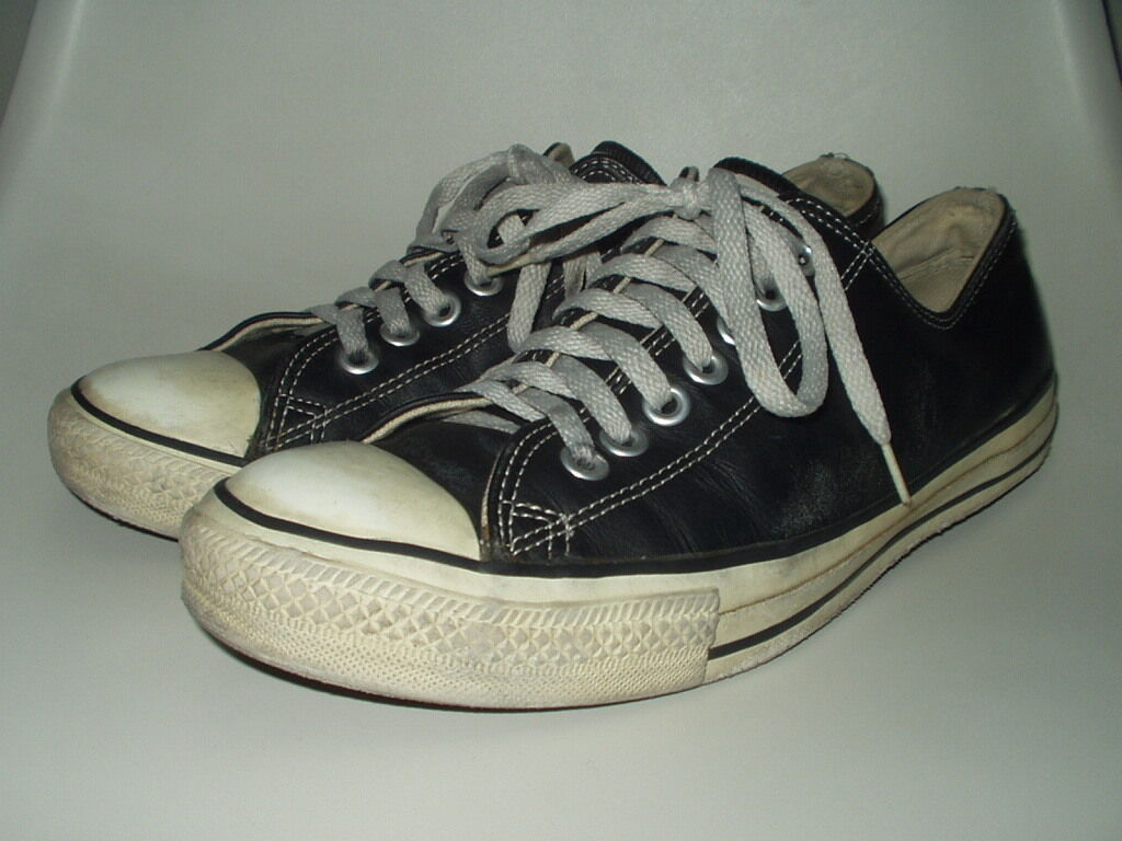 Vintage Converse All star Leather shoes Rare! Made in USA ! Chuck Taylor 9