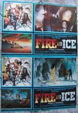 lotto 2 fotobuste FIRE AND ICE fuoco ghiaccio FRAZETTA Bakshi fantasy Italy1983