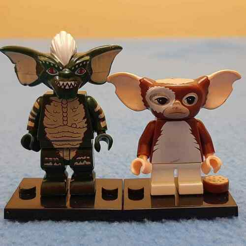 BUILDING BRICK MINIFIGURES NEW IN PACKETS GREMLINS GIZMO and STRIPE SET