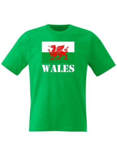 Le pays de galles t shirt Welsh Drapeau St Davids Dragon Jour De Cadwallader Homme-petit à 8XL