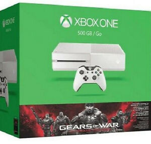 Microsoft Xbox One Gears Of War Ultimate Edition 500gb White Console For Sale Online Ebay