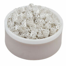 5X6 & 10X7 mm Hollow Flower End Beads Caps For Jewellery Making Findings