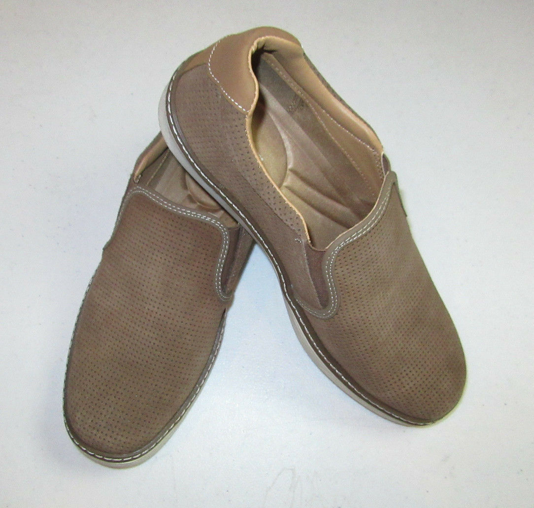 80 New New New in box Joseph Aboud light brown slip on casual shoe  size 10 M c12828