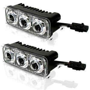 2X-3-LED-Super-White-High-Power-Car-DRL-Daytime-Running-Light-Fog-Lamp-Universal