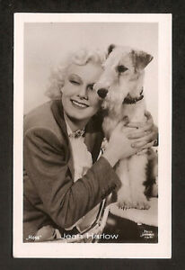JEAN-HARLOW-RARE-COLLECTION-ROSS-CARD-VINTAGE-1930s-REAL-PHOTO