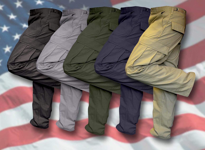 1 PAIR NEW GENUINE USA BDU COMBAT PANTS TROUSERS, PLAIN COLOURS [03097]