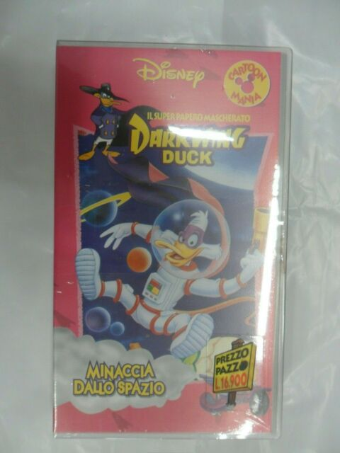 DARKWING DUCK MINACCIA DALLO SPAZIO super papero  videocassetta WALT DISNEY 8302