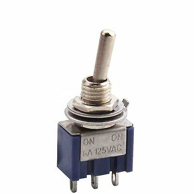 1//5//10pcs Mini 6A 125VAC SPDT MTS-102 3-Pin 2 Position On-on Toggle Switches