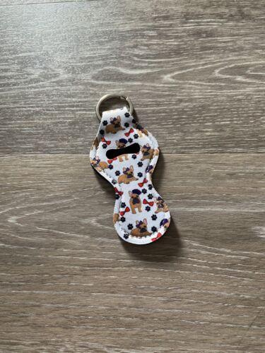 Frenchie French Bulldog Chapstick Holder Keychain