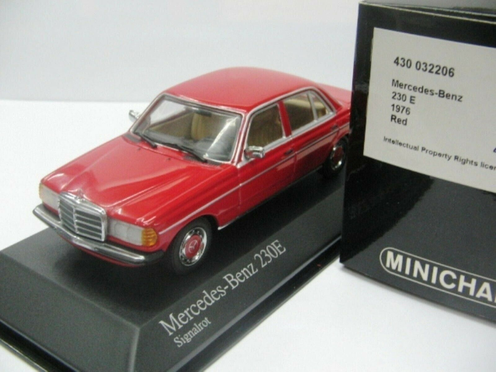 WOW EXTREMELY RARE Mercedes W123 230E Saloon  rouge 1 43 Minichamps-280 300 450 560  100% garantie d'ajustement
