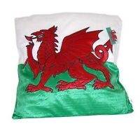 WELSH FLAG PLUSH CUSHION Wales, Gift, Dragon, Pillow
