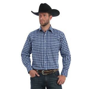 771f9c30 Wrangler Fashion Snap Mens Long Sleeve Western Plaid Shirt, MWR272B ...