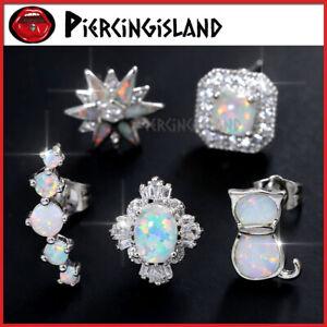 Opal-Gem-Diamond-Silver-Ear-Cartilage-Helix-Stud-Ring-Piercing-Climber-Earring