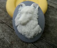 Dog/collie Or Shepard Cameo Silicone Mold Mould Polymer Clay Resin Food Wax