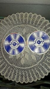 """2 DISNEY Mousketeer 78 rpm 5"""" cardboard Rainbo Records incl. MICKEY MOUSE, RARE"""