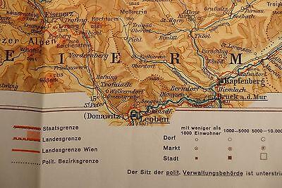 2 Schulhandkarte Niederösterreich/oberösterreich (1:400.000; Vermutlich 1960-er) Bequem Und Einfach Zu Tragen