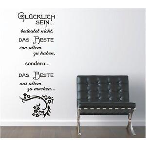 Wandtattoo-Spruch-Gluecklich-sein-das-Beste-Wandsticker-Wandaufkleber-Sticker-e