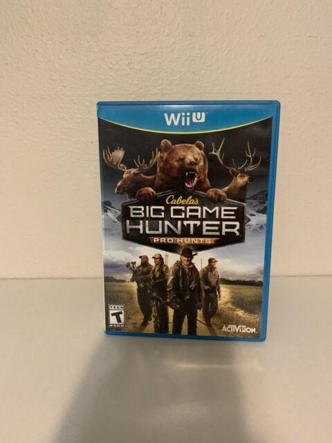 Cabela's Big Game Hunter: Pro Hunts (Nintendo Wii U, 2014) With Case!