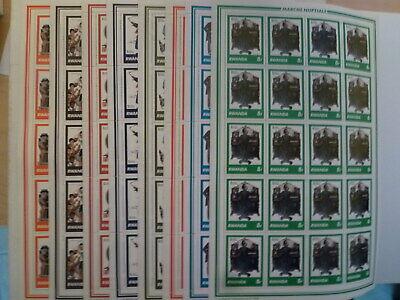 In Ruanda/rwanda Rotes Kreuz / Red Cross Bogensatz / Sheetset Design; 8 Novel